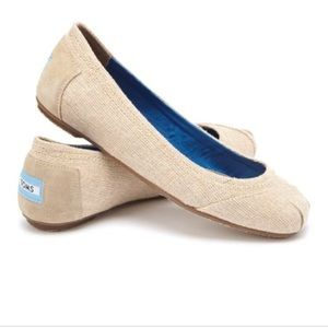 TOMS Burlap Isabel Classic Ballet Flat